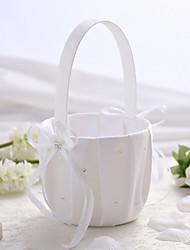 "cheap -Flower Basket Wood / Satin 3 1/2"" (9 cm) Acrylic / Rhinestone / Bows / Ribbons"