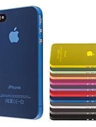 sottile pc trasparente copertura custodia morbida per iphone 4 / 4s (colori assortiti)