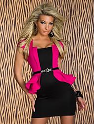 Vivienne Women's Eurorean Style Bodycon Peplum Dress