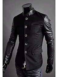 cheap -REVERIE UOMO Korean Style Silm dress Work Man's PU Leather Jackets