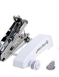 Handheld Manual Powered Mini Sewing Machine White Pink And Blue
