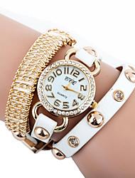 Недорогие -CCQ искусственная кожа Женщины платье часы с горный хрусталь-3