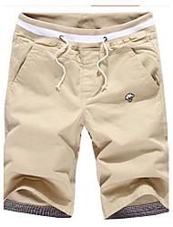 povoljno -Muškarci Ležerne prilike Pamuk Slim Kratke hlače Hlače Jednobojni