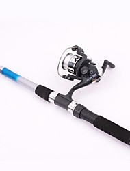 cheap -2.1m  Portable Telescope Spinning Fishing Rod Set 3 Ball Bearings 0.3mm/90m Line 5.2:1 Gear Ratio