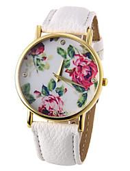 Women's Watch Fashion Flower Pattern Cool Watches Unique Watches Strap Watch