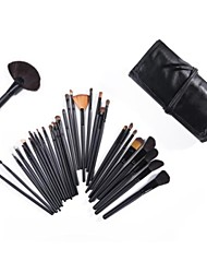 cheap -32PCS Wool  Makeup Brushes Cosmetic Eyebrow Lip Eyeshadow Brushes Set with Case