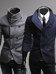 cheap -Men's Chic & Modern Coat-Solid Colored