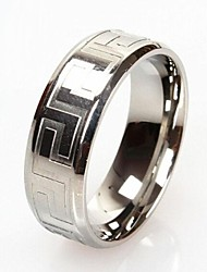 cheap -Z&X®  Men's Fashion And Personality Great Wall Lines Titanium Steel Ring Christmas Gifts