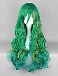 Parrucche Cosplay Cosplay Cosplay Verde Lungo Anime Parrucche Cosplay 80 CM Tessuno resistente a calore Uomo