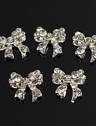 abordables -10pcs bling charme noeud papillon strass en plein 3d alliage nail art de décoration