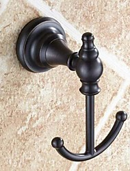 Robe Hook / Oil Rubbed Bronze Brass /Antique