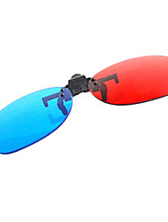 Недорогие -ле-видение красный синий близорукость Зажим костюмы 3d очки для компьютера