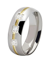 cheap -Men's Band Rings Personalized Stainless Steel Zircon Jewelry Party Daily Casual