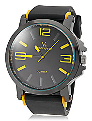 cheap -V6 Men's Quartz Japanese Quartz Wrist Watch Hot Sale Silicone Band Charm Black