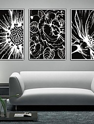 baratos -Floral/Botânico Quadros Emoldurados / Conjunto Emoldurado Wall Art,PVC Branco Sem Cartolina de Passepartout com frame Wall Art