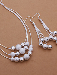 cheap -Women's Jewelry Set - Silver Plated Basic Include Drop Earrings / Necklace Silver For Party / Daily / Casual