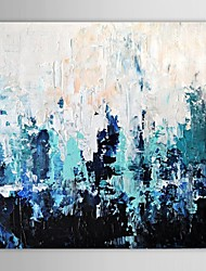 baratos -Pintados à mão Abstrato Quadrada Tela de pintura Pintura a Óleo Decoração para casa 1 Painel