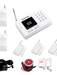 433MHz Phone TELEPHONE Home Alarm Systems with 3 Magnetic door 2 IR