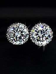 nuovo oro 18k monili delle donne placcato intarsio zircone orecchini di cristallo