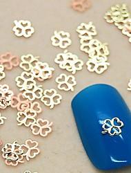 Недорогие -200шт три листа клевера металла ломтик золотой украшение искусства ногтя
