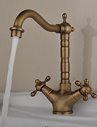 cheap -Kitchen faucet - Antique Antique Brass Bar / ­Prep Deck Mounted