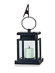 cheap -1-LED White Solar Lantern with Mock Candle Umbrella Light Garden Lamp