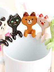 cartoon animal colheres de cerâmica de suspensão (cores sortidas)