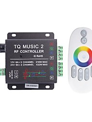 cheap -TQ Music 3-Channel LED Controller  RF Music Controller RGB Audio Controller (DC12-24V)
