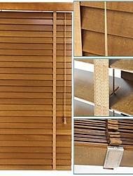 50mm tilleul stores vénitiens solides avec du ruban Ladder profil haut