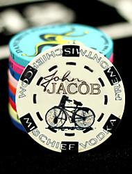 Недорогие -велосипед рисунок Texas Hold'em Poker керамические маджонг чипсы развлекательные игрушки