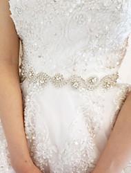 cheap -Satin Wedding Party / Evening Sash With Rhinestone Women's Sashes