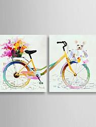 abordables -Peinture à l'huile Hang-peint Peint à la main - Pop Art Classique Toile