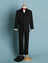 Poliestere Completo da paggetto - 5 Pezzi Include Giacca di pelle / Maglietta / Pantaloni / Fascia per smoking / Fiocchi