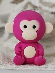 mignon petit singe amovible gomme en forme (couleur aléatoire x 2 pcs)