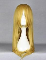 Cosplay Wigs Cosplay Kirino Kosaka Yellow Medium Anime Cosplay Wigs 55 CM Heat Resistant Fiber Female