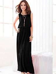 povoljno -TNL ženske modne rukava jednobojnu haljinu
