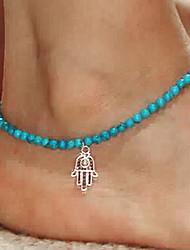 cheap -Shixin® Fashion Blue Resin Elastic Anklet(1 Pc)