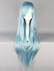 cheap -Cosplay Wigs Sword Art Online Asuna Yuuki Blue Long Anime Cosplay Wigs 85 CM Heat Resistant Fiber Female