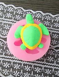 moule en forme de tortue de gâteau de fondant de moule, moule de gâteau de l4.7cm * w4.7cm * h2.2cm, outil de traitement au four