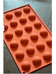 24 semicerchio muffa della torta al cioccolato, silicone 29,8 × 17,4 × 1,5 cm (11.7 × 6.9 × 0.6 pollici)
