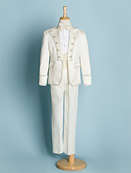 Недорогие -Цвет слоновой кости Полиэстер Детский праздничный костюм - 5 Включает в себя Куртка / Широкий пояс / Рубашка