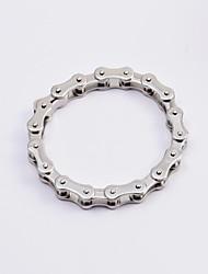 Недорогие -мужская мода серебра 316 нержавеющей стали мотоцикл цепи браслеты