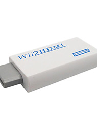 cheap -Portable Wii to HDMI 720P / 1080p Converter with HDMI Male to Male Cable - White