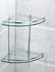 cheap -Bathroom Shelf Contemporary Stainless Steel Glass Chrome