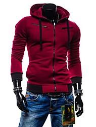 Moda hoodie degli uomini lesen sottile panno morbido manicotto lungo casuale cardigan con cappuccio o