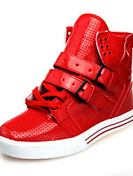 cheap -Men's Shoes Leatherette Spring Fall Comfort for Casual Black White Red