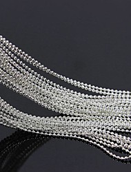 cheap -10Meters 3D Silver Plated Metal Round Ball Beads Line Chains Nail Art Decoration