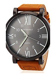 JUBAOLI® Men's Watch Military Roman Numeral Big Black Dial Casual Watch Cool Watch Unique Watch Fashion Watch