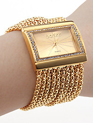 cheap -Women's Bracelet Watch Fashion Watch Japanese Quartz Rhinestone Imitation Diamond Copper Band Luxury Sparkle Elegant Gold