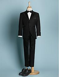 economico -Ring Bearer abiti neri giovane lag abiti formali nero (1634568)